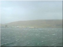 HU4039 : Scalloway harbour showing the castle as the highest building by scallopboy