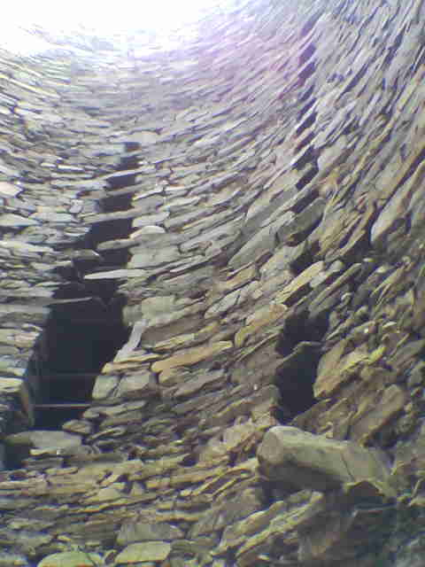 Interior of the broch on Mousa Island
