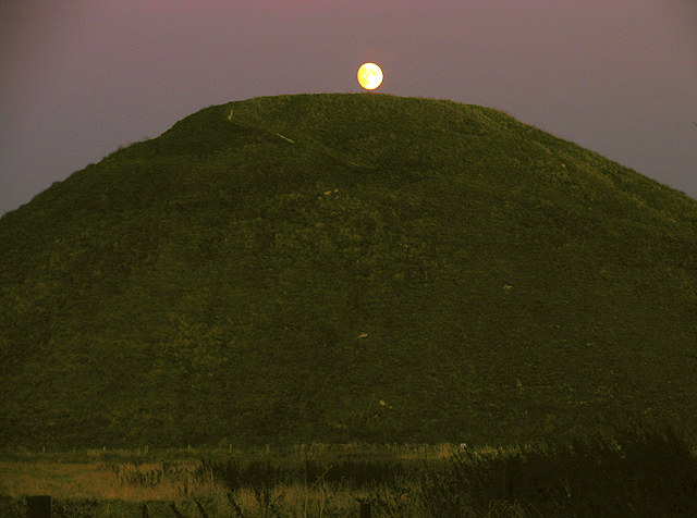 Moon over Silbury Hill