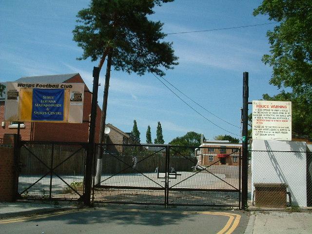 Entrance to Wasps RFC former home