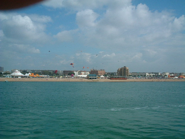 Between Portsmouth and the Isle of Wight