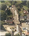 SP7037 : The Square, Akeley in 1996 by Geoff Spink