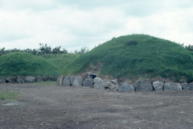 Knowth, Boyne Valley, during excavations.