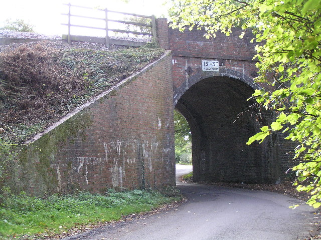 Railway bridge in Crown Lane near Nately Scures
