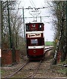 SK3455 : Tram No. 12, Crich National Tramway Museum by Lynne Kirton