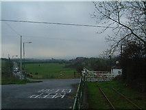 NZ2857 : Bowes Railway road crossing by Steve McShane