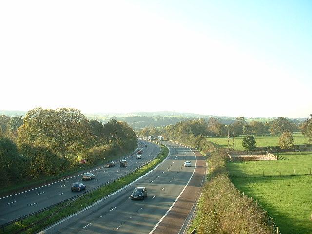 M6 Motorway, near Halton
