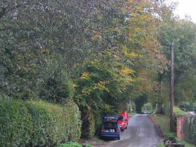 College Lane near Ellisfield in Hampshire