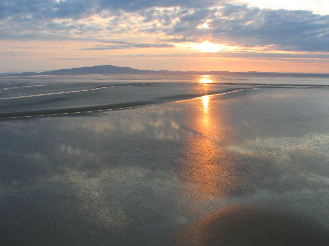 Sunset on the Sands of the Solway
