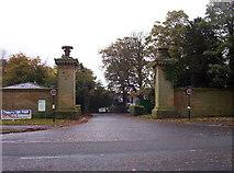 NZ2471 : Gates of Newcastle Racecourse by Weston Beggard
