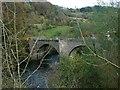 NS8643 : The old bridge at Kirkfieldbank by Gordon Brown
