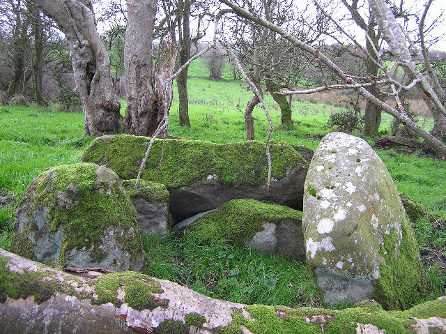 Chambered grave at Cloghfin