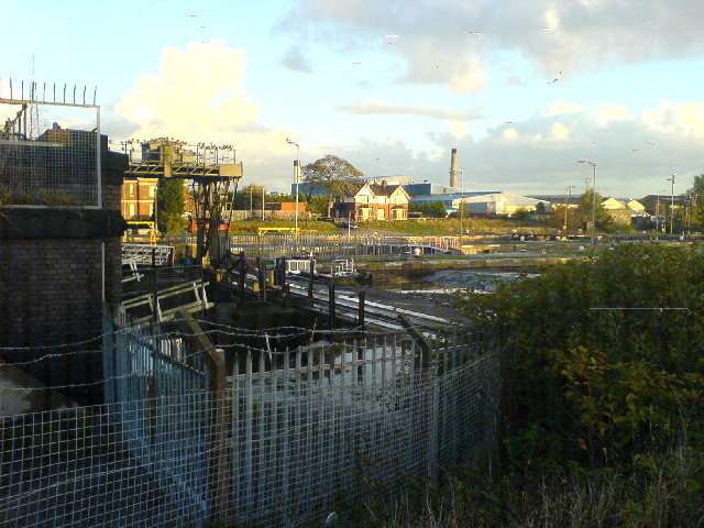 Aluminium recycling plant from across Latchford locks