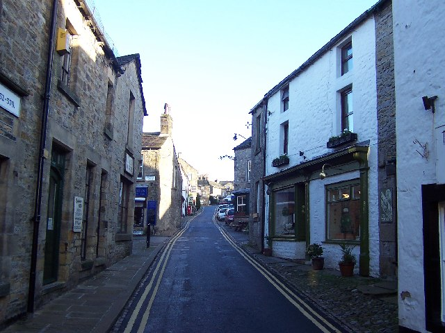Looking up Main Street, Grassington