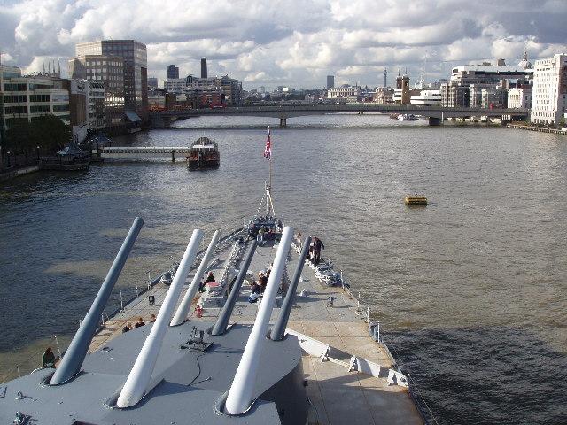 Guns of HMS Belfast
