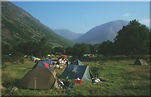 NY1807 : NT Campsite, Wasdale. by Richard Webb