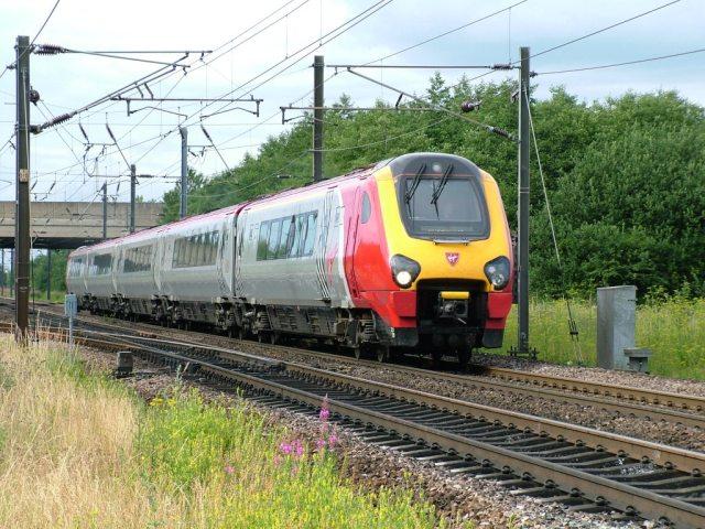 Virgin Voyager Train, Snipe Lane, Darlington