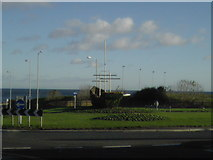 NZ3766 : Bent's Park Road Roundabout by MSX