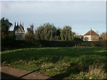 TG1508 : Gabled buildings, Bawburgh by Katy Walters