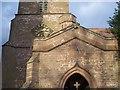 SO8157 : Sundial on Broadheath Church Porch by Bob Embleton