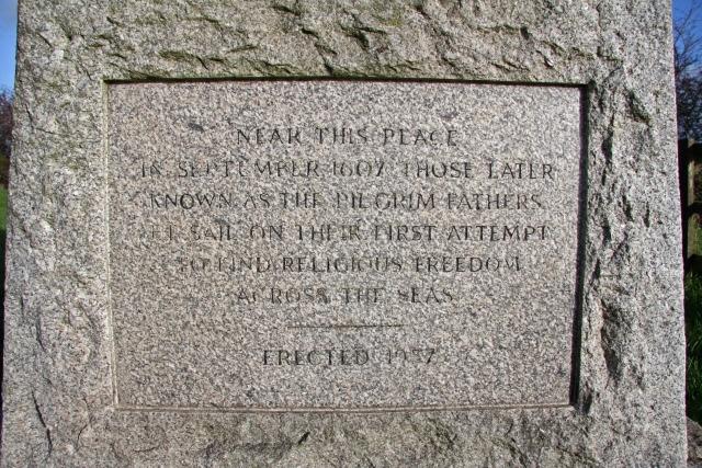 Pilgrim Fathers Memorial (closeup)