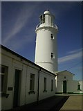 SW8576 : Lighthouse at Trevose Head by Mike Farmer