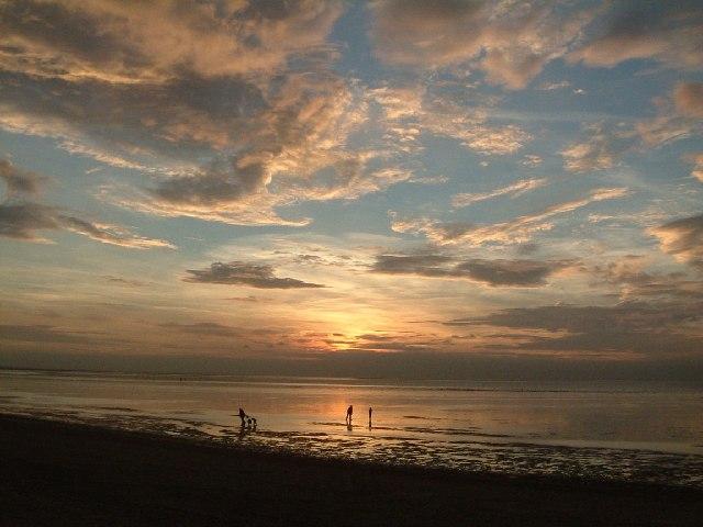 Snettisham Beach, Sunset