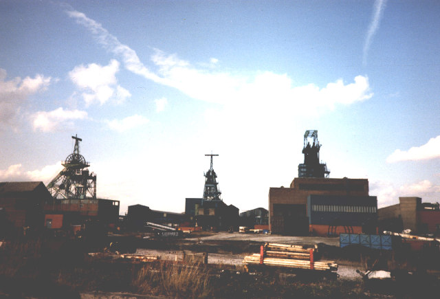 Bickershaw Colliery, shortly before closure