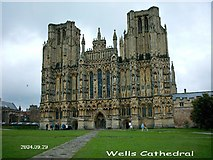 ST5545 : Wells Cathedral by Bryan Sykes