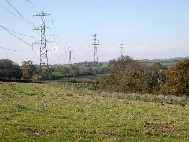 Powerlines near Warleigh Marsh