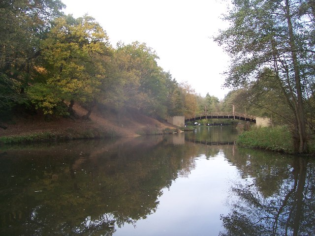 North Downs Way footbridge over River Wey