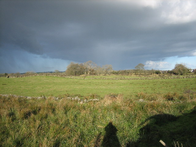 Fields enclosed by dry-stone walls.