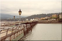 SH5873 : Bangor Pier looking towards the town by Humphrey Bolton