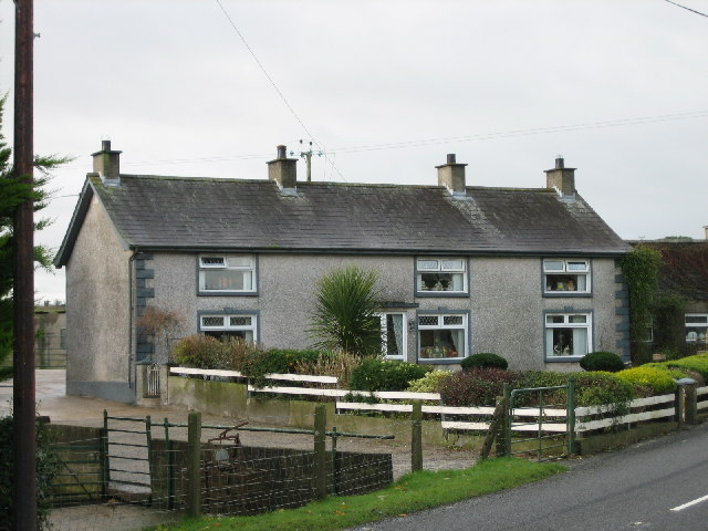 Pebbledashed House