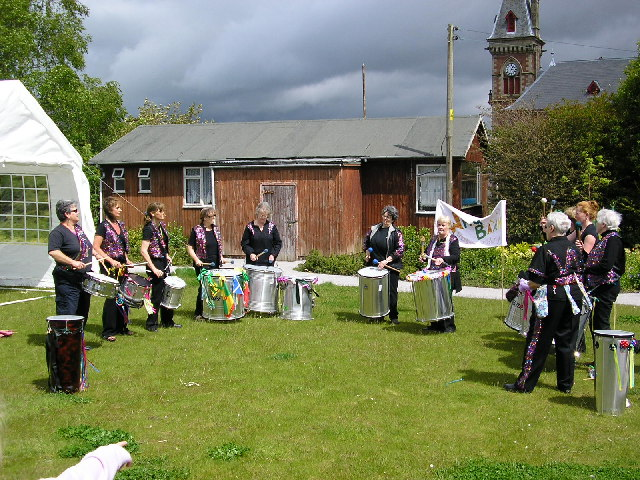Drummers in Wigtown