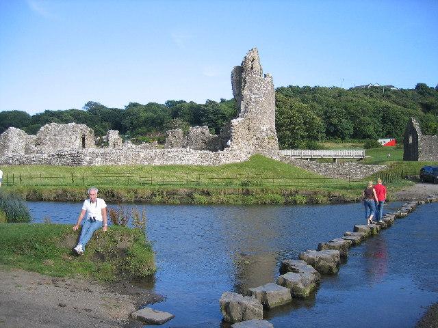 stepping stones on river ogmore  ogmore     u00a9 john goodall