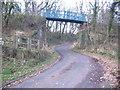 NX9922 : Cycle track bridge. by John Holmes