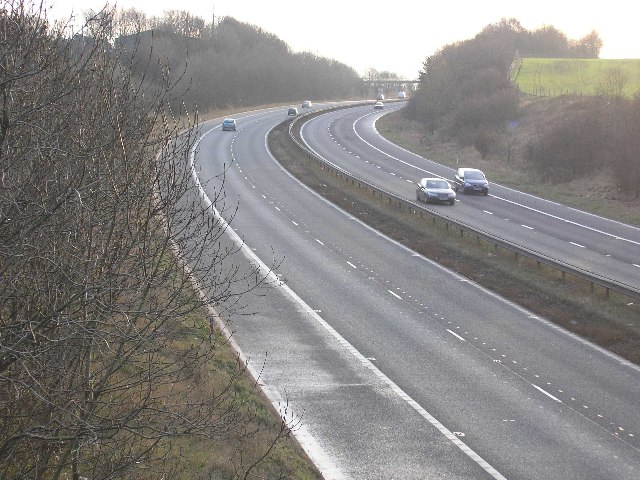 A1(M) near Cleasby, looking south.