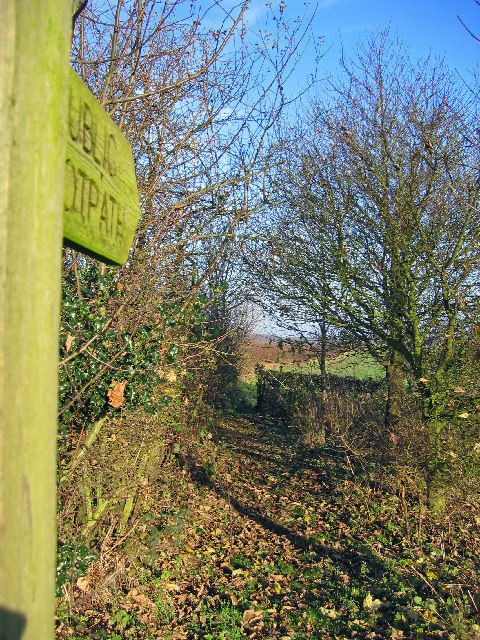 Footpath at SE985523 by Stephen Horncastle