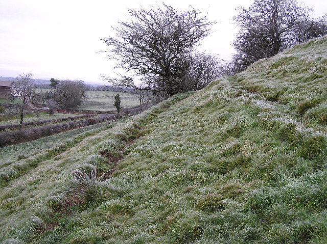 The slope leading to the standing stone