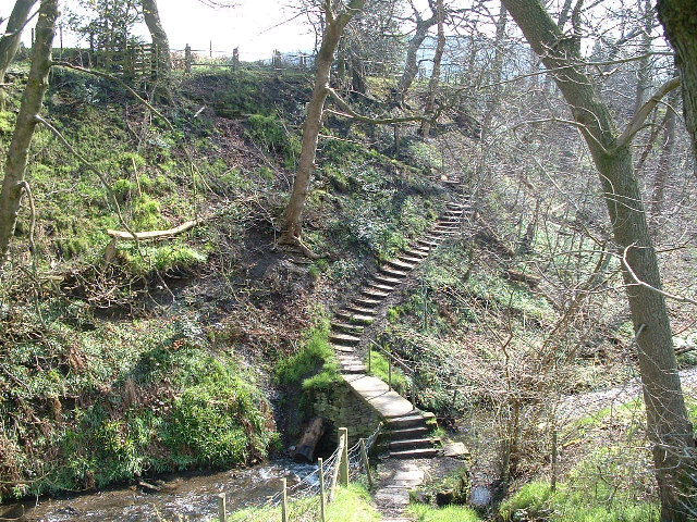 Stone Bridge across Shibden Brook