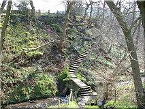 SE0927 : Stone Bridge across Shibden Brook by Nigel Homer