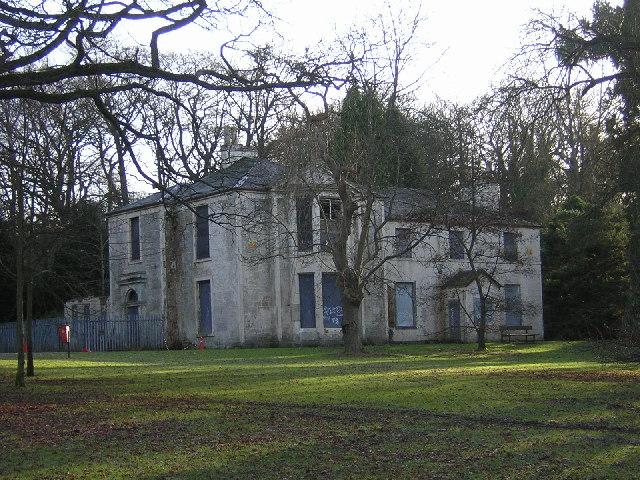 Derelict Mansion House in Linn Park, Glasgow