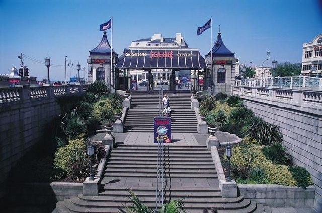 Steps at Entrance to Sealife Centre Brighton