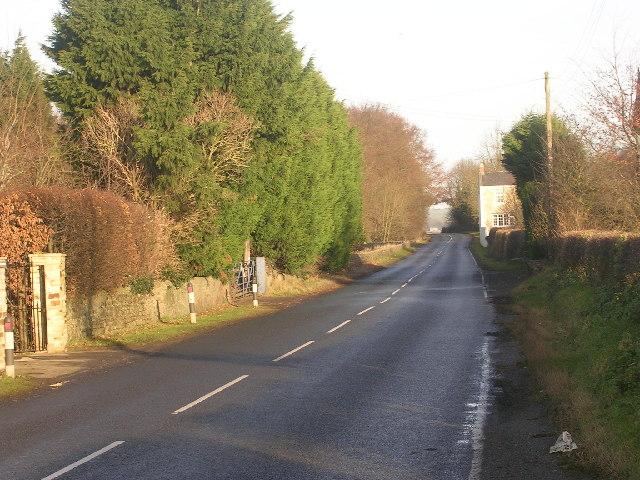 B6275 (Dere Street) north of Piercebridge, County Durham