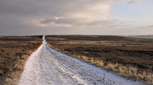 Desolate track on Lealholm moor
