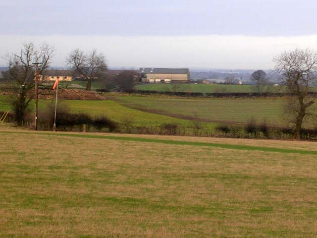 Grass airstrip seen from Middleton Tyas to Croft-on-Tees road
