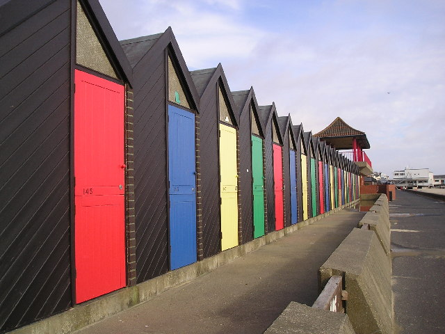 Beach huts near Claremont Pier by janet tench