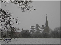 SK8770 : Church and Vicarage by Richard Croft