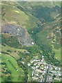 NS9197 : Tillicoultry Quarry and Mill Glen from the air by James Allan